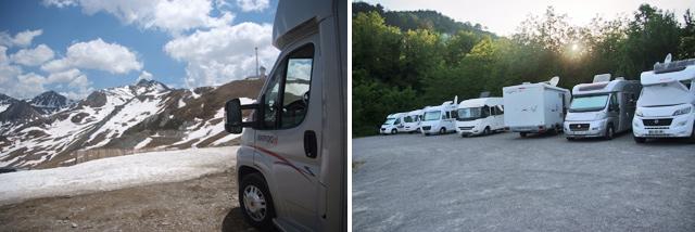 En el puerto Envalira / Área de aparcamiento de autocaravanas St. Georges, Cahors