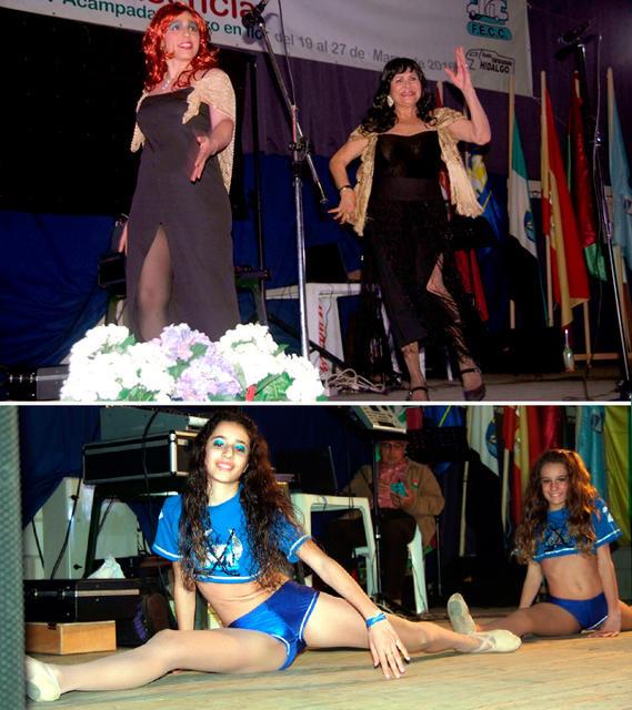 Actuaciones del Club Aire Libre C.C. Provincial Málaga-Marbella y de dos niñas del Cartagena C.C.