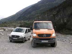 Vito y Sprinter 4X4 transporte ligero con máxima accesibilidad