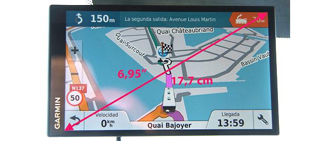 La pantalla tiene una medida que permite ver cómodamente lo que en ella figura