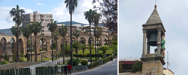 El acueducto de Plasencia y el 'abuelo Mayorga' que martillea la campana del Ayuntamiento