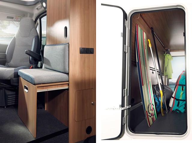 La doble apertura del garaje permite acceder de forma más ágil al cofre.