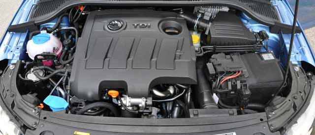 Motor común con otros vehículos del grupo VWAG
