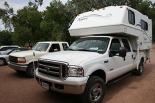 Los camper sobre pick up son la autocaravana más típicamente norteamericana.
