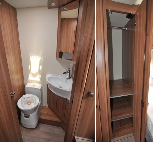 El espacio en una autocaravana es mucho mayor, incluso el baño esta separado de la ducha.