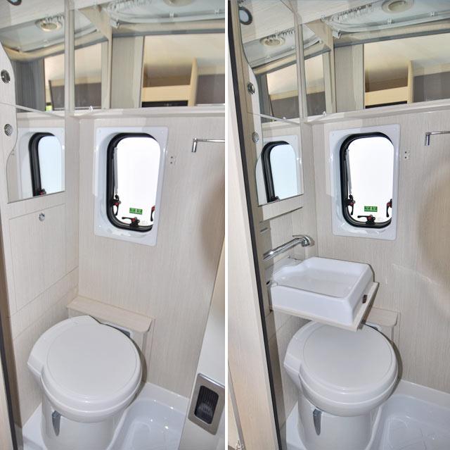 El baño de una camper es más pequeño y menos cómodo.