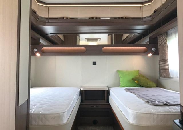 La 560 LU tiene camas individuales