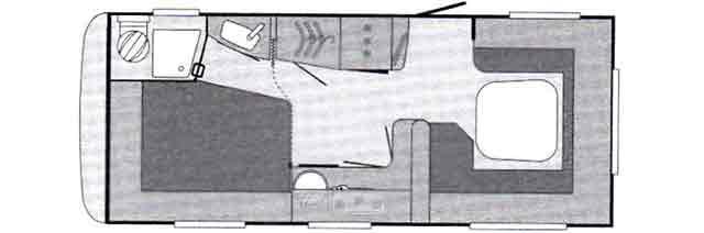 Distribución de la Sport 580 FUS con su salón envolvente de 270º