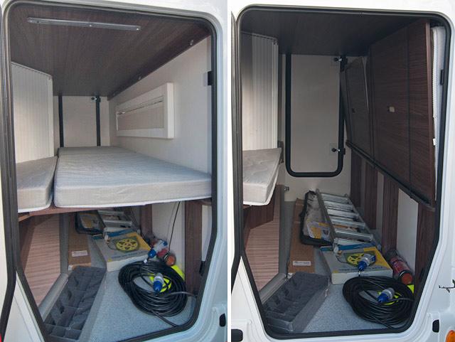 Las autocaravanas cuentan con un garaje o baúl donde cabe casi de todo.